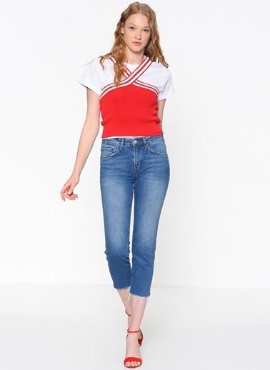 Mavi Bluz Kırmızı
